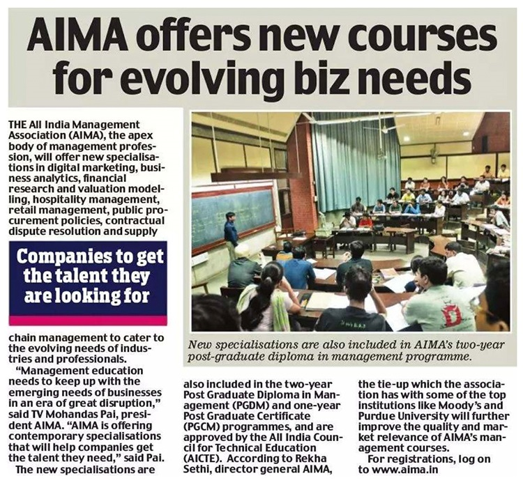 AIMA Offers New Courses for Evolving Biz Needs