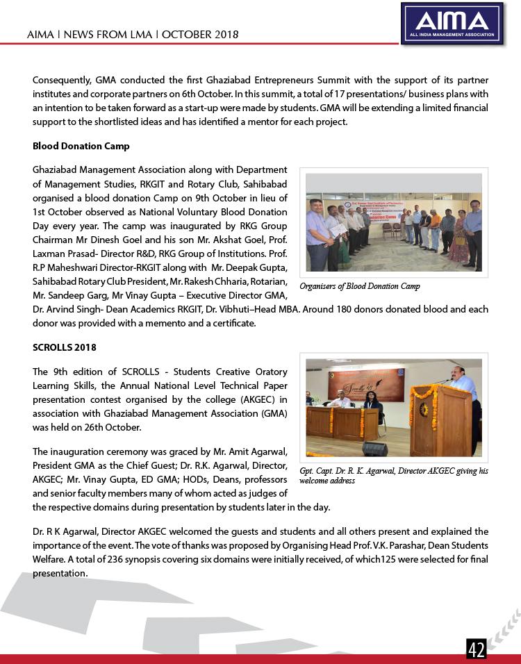 Aima News October 2018