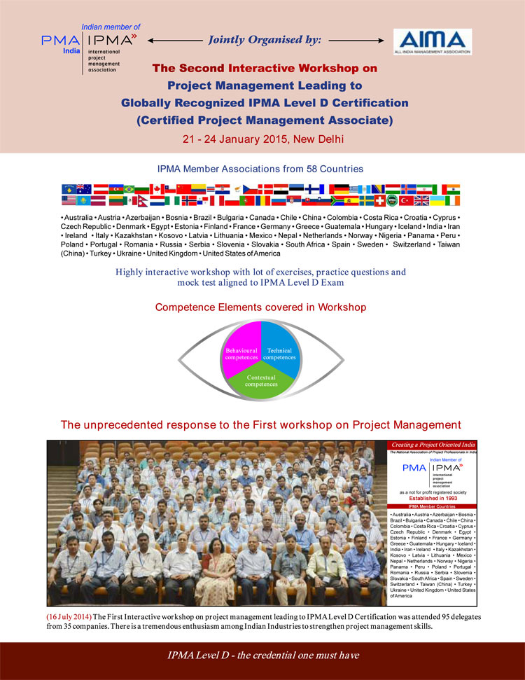 Aima Second Interactive Workshop On Project Management With Level